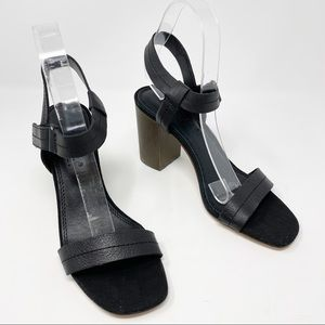 Splendid Miller Block Heel Black Sandal Shoes